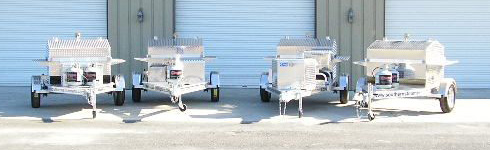 We have several Barbecue trailer grills to choose from