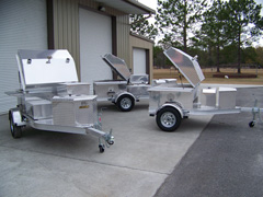 Three more barbecue grill trailers