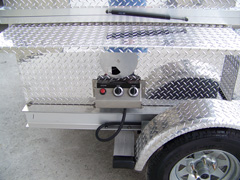 Easy access controls for your barbecue trailer