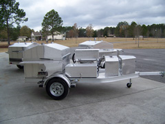 Upgrade barbecue grill trailer