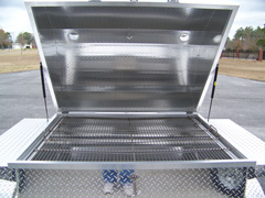 Barbecue Trailer grill with stainless cooking grate