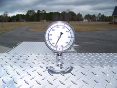 Barbecue trailer thermometer